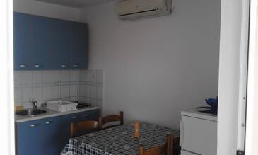 Ražanac, Jedilnica v nastanitvi vrste apartment, dostopna klima in WiFi.