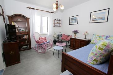 Vinjerac, Obývací pokoj v ubytování typu apartment, dopusteni kucni ljubimci i WIFI.