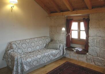 Korčula, Obývací pokoj 1 v ubytování typu house, WiFi.