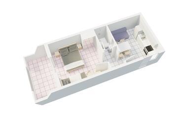 Podgora, Půdorys v ubytování typu studio-apartment, WiFi.