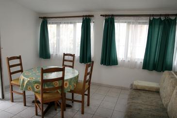 Srima - Vodice, Dining room in the apartment, air condition available, (pet friendly) and WiFi.