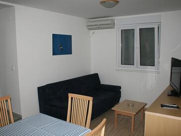 Vrboska, Obývací pokoj v ubytování typu apartment, s klimatizací a domácí mazlíčci povoleni.