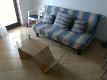 Zadar - Diklo, Wohnzimmer in folgender Unterkunftsart apartment, WiFi.