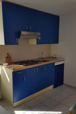 Vinjerac, Kuchyňa v ubytovacej jednotke apartment, dostupna klima, dopusteni kucni ljubimci i WIFI.