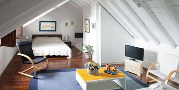 Zaostrog, Obývacia izba 1 v ubytovacej jednotke house, dostupna klima, dopusteni kucni ljubimci i WIFI.