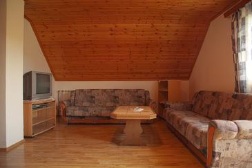 Smoljanac, Living room in the apartment, (pet friendly) and WiFi.