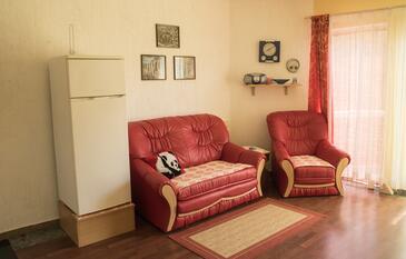 Ribarica, Obývací pokoj v ubytování typu apartment, WIFI.