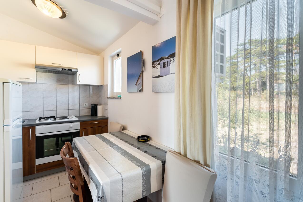 Ferienwohnung im Ort Lopar (Rab), Kapazität 4 Ferienwohnung