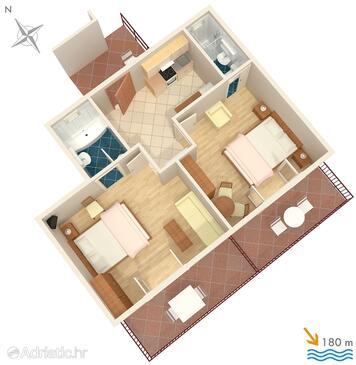 Hvar, План в размещении типа apartment, Домашние животные допускаются и WiFi.