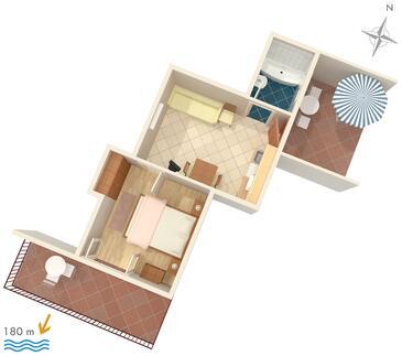Hvar, Načrt v nastanitvi vrste apartment, Hišni ljubljenčki dovoljeni in WiFi.