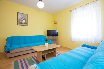 Punat, Гостиная в размещении типа apartment, WiFi.