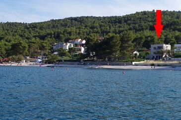 Slatine, Čiovo, Objekt 14158 - Ubytování v blízkosti moře s oblázkovou pláží.