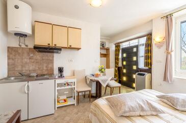 Motovun, Jídelna v ubytování typu studio-apartment, WiFi.