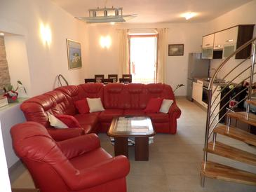 Preko, Obývací pokoj v ubytování typu apartment, s klimatizací a WiFi.