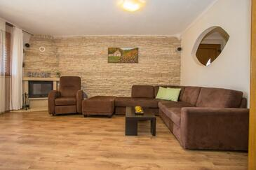 Nova Vas, Living room in the apartment, air condition available and WiFi.