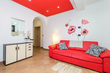 Lovran, Camera di soggiorno nell'alloggi del tipo apartment, condizionatore disponibile e WiFi.