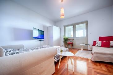Hvar, Гостиная в размещении типа apartment, Домашние животные допускаются и WiFi.