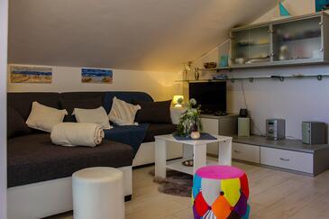 Povljana, Obývací pokoj v ubytování typu apartment, WiFi.
