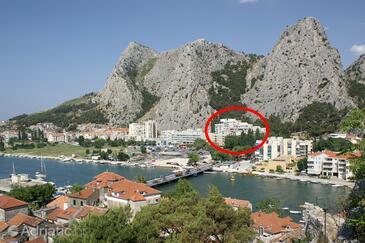 Omiš, Omiš, Alloggio 14290 - Appartamenti affitto con la spiaggia sabbiosa.