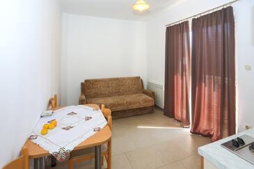 Bibinje, Sala da pranzo nell'alloggi del tipo apartment, condizionatore disponibile, animali domestici ammessi e WiFi.