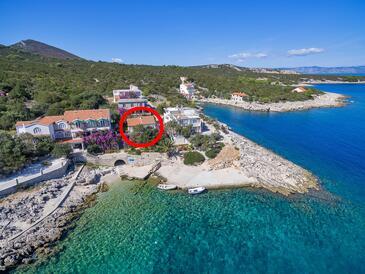 Pokrivenik, Hvar, Objekt 14345 - Ubytování v blízkosti moře s oblázkovou pláží.
