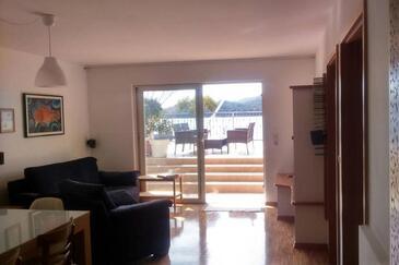 Tisno, Obývací pokoj v ubytování typu apartment, WiFi.