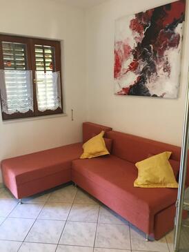 Sukošan, Obývací pokoj v ubytování typu apartment, WiFi.