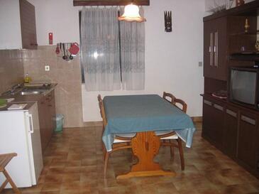 Krk, Jedáleň v ubytovacej jednotke apartment, dostupna klima, dopusteni kucni ljubimci i WIFI.