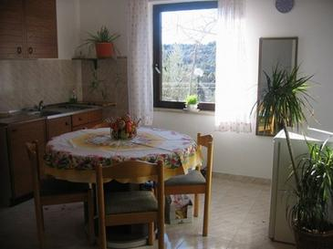 Krk, Dining room in the apartment, (pet friendly) and WiFi.
