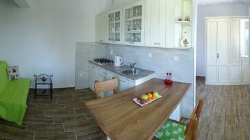 Povlja, Dining room in the house, air condition available, (pet friendly) and WiFi.