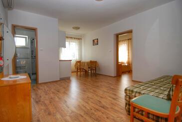 Nerezine, Obývací pokoj v ubytování typu apartment, s klimatizací a WiFi.