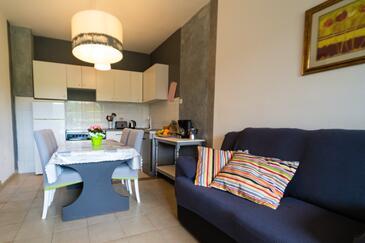 Labin, Obývacia izba v ubytovacej jednotke apartment, klimatizácia k dispozícii a WiFi.