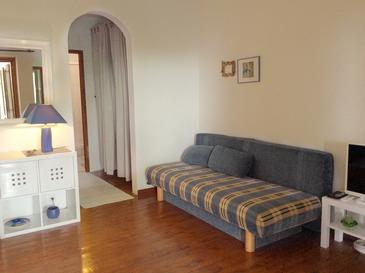 Prižba, Living room in the apartment, air condition available and WiFi.