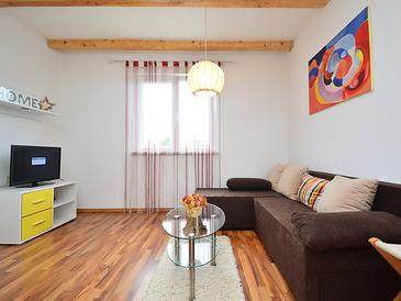 Kapelica, Camera di soggiorno nell'alloggi del tipo apartment, condizionatore disponibile e WiFi.