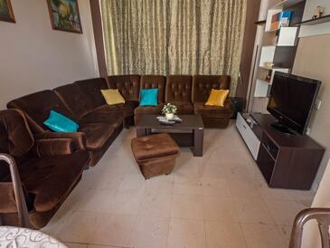 Orebić, Salon dans l'hébergement en type apartment, climatisation disponible, animaux acceptés et WiFi.