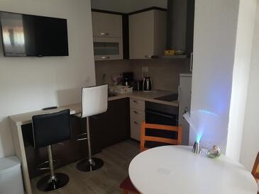 Selište Drežničko, Jídelna v ubytování typu studio-apartment, WiFi.
