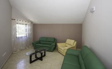 Zadar, Obývacia izba v ubytovacej jednotke apartment, klimatizácia k dispozícii a WiFi.