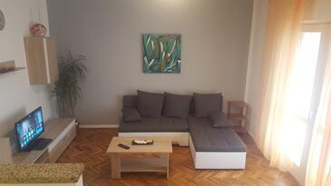 Viškovići, Obývací pokoj v ubytování typu apartment, dostupna klima i WIFI.