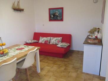 Sumartin, Obývacia izba v ubytovacej jednotke apartment, WIFI.