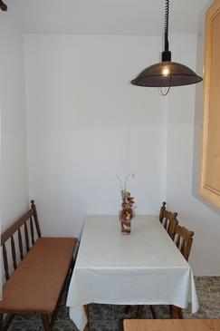 Nin, Dining room in the studio-apartment, (pet friendly) and WiFi.