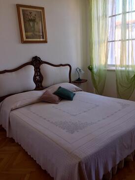 Mali Lošinj, Spálňa v ubytovacej jednotke room, dostupna klima i WIFI.