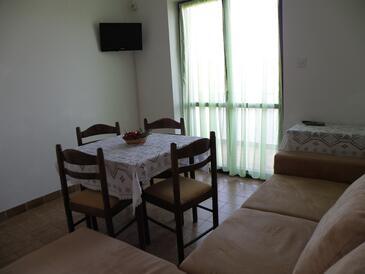 Pašman, Obývacia izba v ubytovacej jednotke apartment, WIFI.