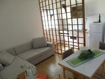 Pašman, Jedáleň v ubytovacej jednotke apartment, WIFI.