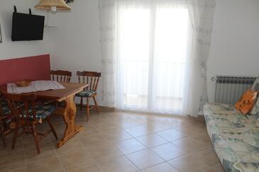 Rab, Гостиная в размещении типа apartment, Домашние животные допускаются и WiFi.