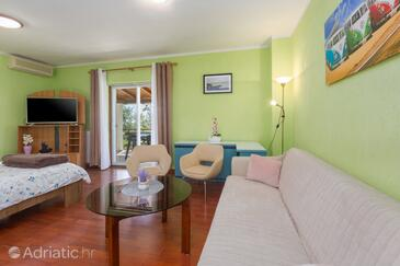Sveti Lovreč, Living room in the apartment, air condition available, (pet friendly) and WiFi.