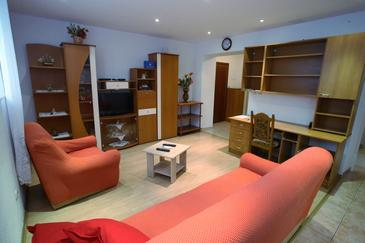 Split, Obývacia izba v ubytovacej jednotke apartment, WiFi.