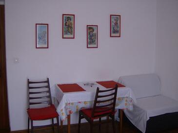 Stari Grad, Jedáleň v ubytovacej jednotke studio-apartment, domáci miláčikovia povolení a WiFi.