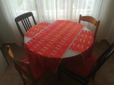 Zagreb, Salle à manger dans l'hébergement en type apartment, climatisation disponible et WiFi.