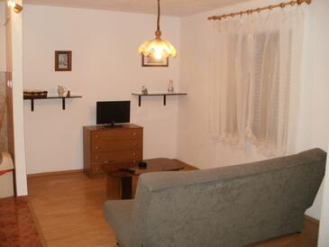 Ugljan, Obývacia izba v ubytovacej jednotke apartment, WIFI.