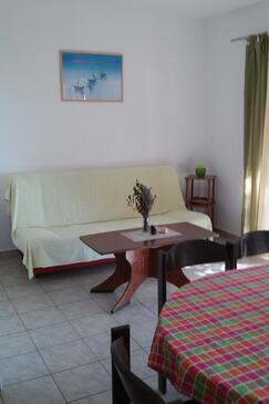 Skozanje, Salon dans l'hébergement en type apartment, animaux acceptés et WiFi.